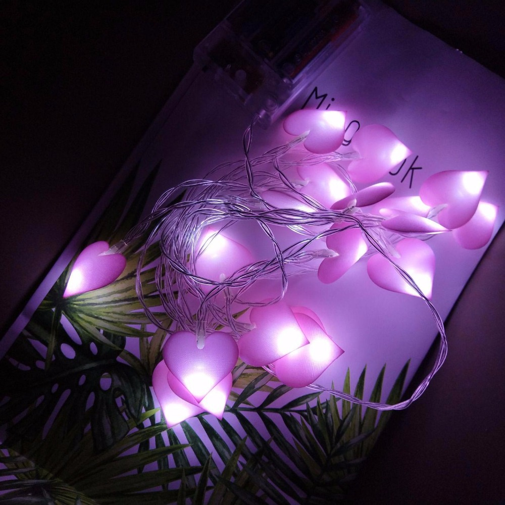 Heart Fabric LED Batterij String Lampen Holiday Lights Outdoor Indoor - Vakantie verlichting - Foto 2
