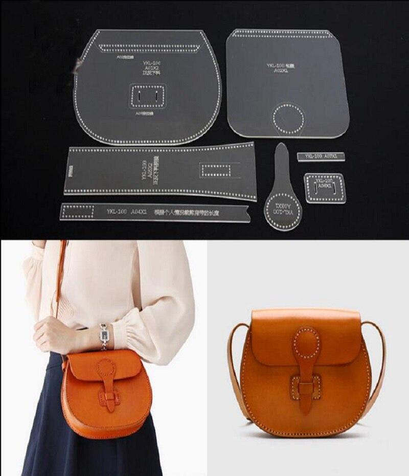 Umhängetasche Acryl Leder Handtasche Vorlage Leathercraft Muster DIY ...