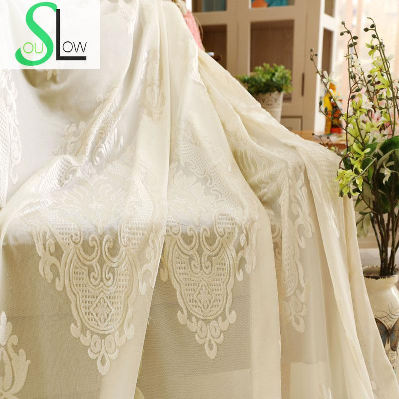 Huayin Velvet Linen Curtains Tulle Window Curtain For: Slow Soul White Transparent Velvet Curtain French Window