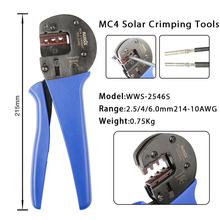 MC4 Solar Crimping Tools for AWG 14-10(2.5/4/6.0mm²) Solar Panel PV Cables Hand Crimper Plier mc4 connector tool ly 2546b solar crimping pliers tools pv photovoltaic wire cable crimper for mc3 mc4 connector terminal pins wiring