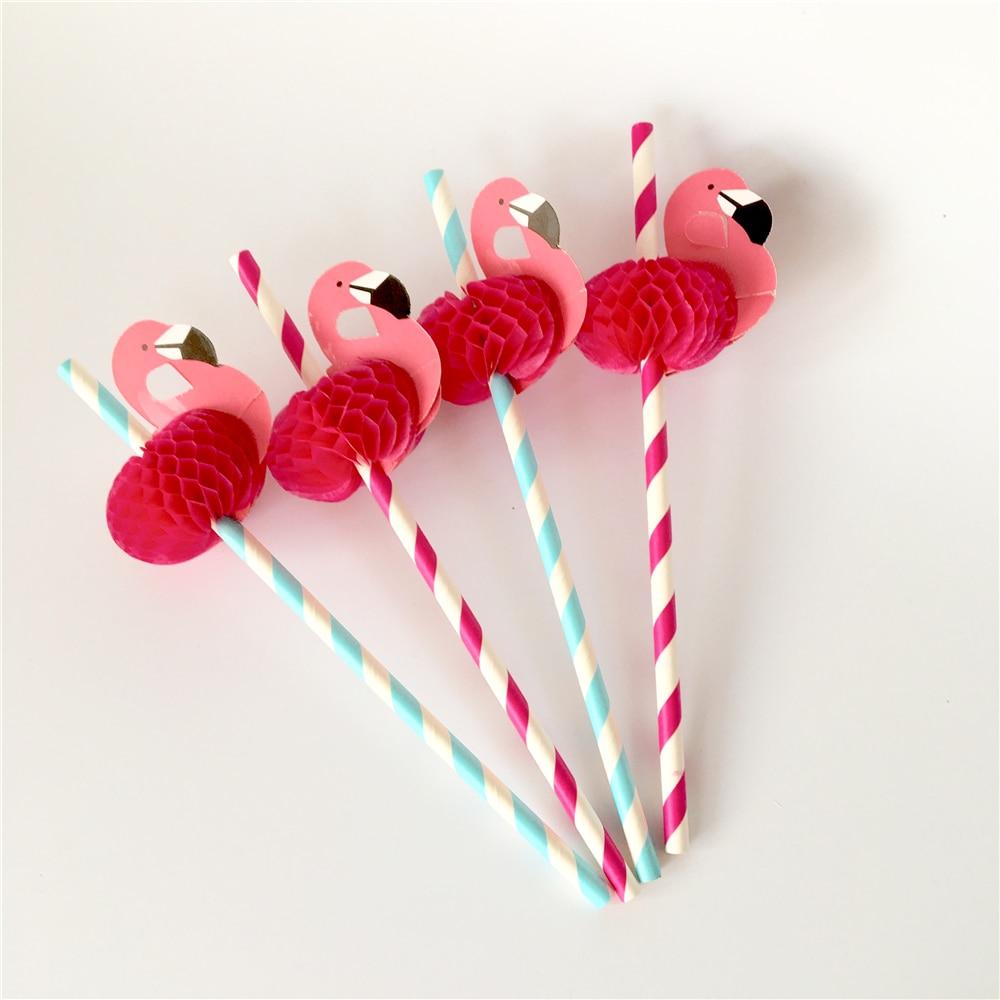 Flamingo Party Straws 10Pcs/set Reusable Plastic Straws Party Diy Decorations Paper Straws Wedding Table Decoration Supplies,9 10