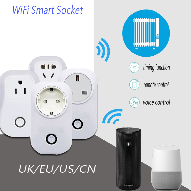 S20 Smart Wifi Socket EU/US/UK plug  Wireless Remote Control Socket EU 10A 2200w Power Supply Electrical Plug IOS Android