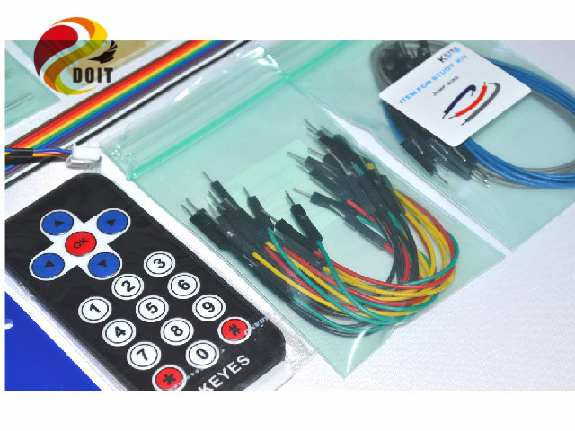 Official DOIT New Product Cduino Beginners DIY Kit Learning Suite UNO R3 328 Robot DIY Electronic Kit Starter pCduino adeept diy electric new project lcd1602 starter kit for arduino uno r3 mega 2560 pdf free shipping book headphones diy diykit