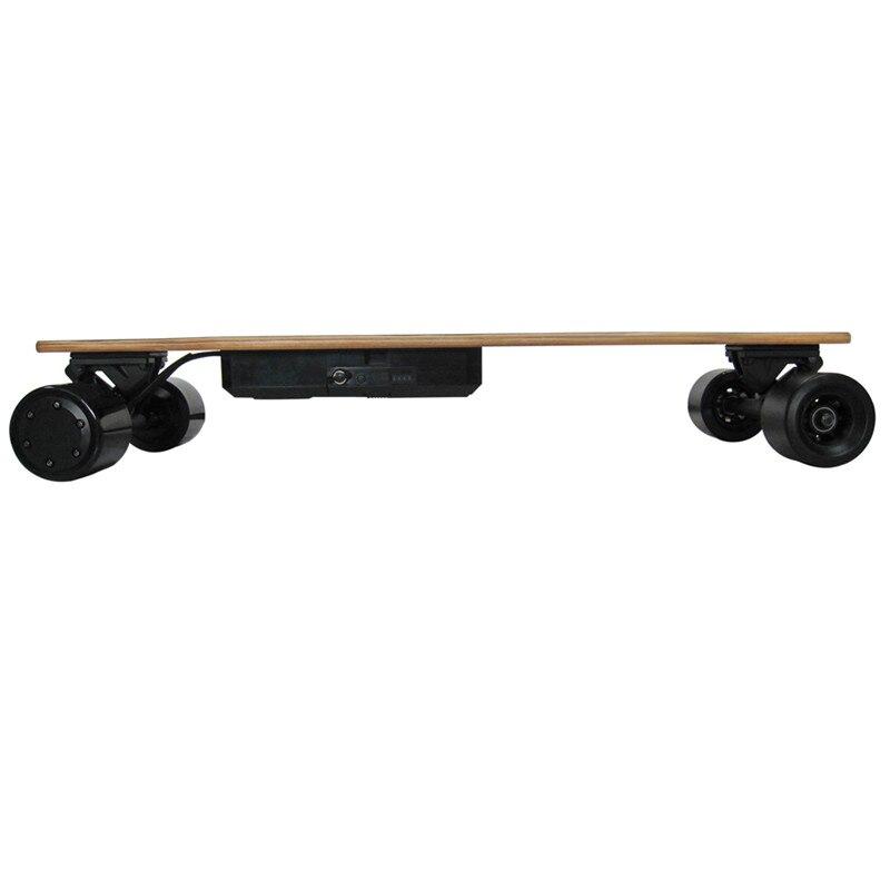 2019 Nouveau Amovible skateboard électrique Électronique mini Longboard télécommande trottinette électrique 350 W * 2 Hub-Moteur - 4