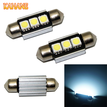 KAHANE 2x 5050 36mm LED Car License Plate Light White Canbus Error Free For Audi A4 B8 A6 C6 C5 B6 A3 BMW X5 E70 F30 F10 E46 E60 image