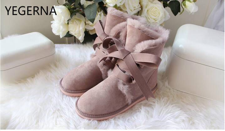 Genuine Sheepskin Leather Snow Boots for Women Top Quality  Waterproof Winter Boots 100% Natural Fur Wool Women Boots top quality fashion women ankle snow boots genuine sheepskin leather boots 100% natural fur wool warm winter boots women s boots