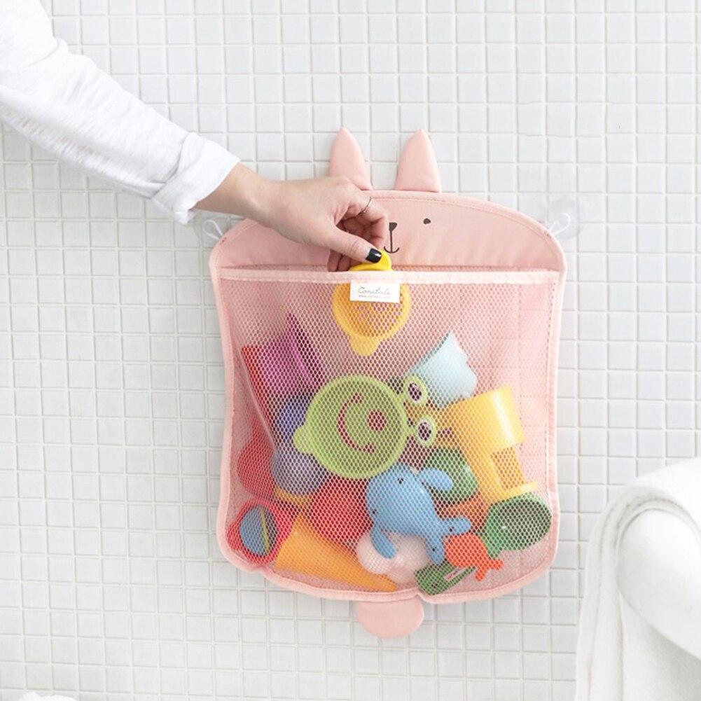 Cartoon Bathroom/Kitchen Hanging mesh Storage Bag Space Saving Toiletry Baby Bath Toy Organizer