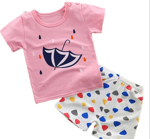 527807c73c6a Baby romper baby girl newborn baby clothes printed cotton suspenders ...