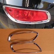 Более высокая звезда АБС ХРОМ 2 шт автомобиля задняя противотуманная фара крышка, крышка лампы для HYUNDAI SANTAFE 2010-2012