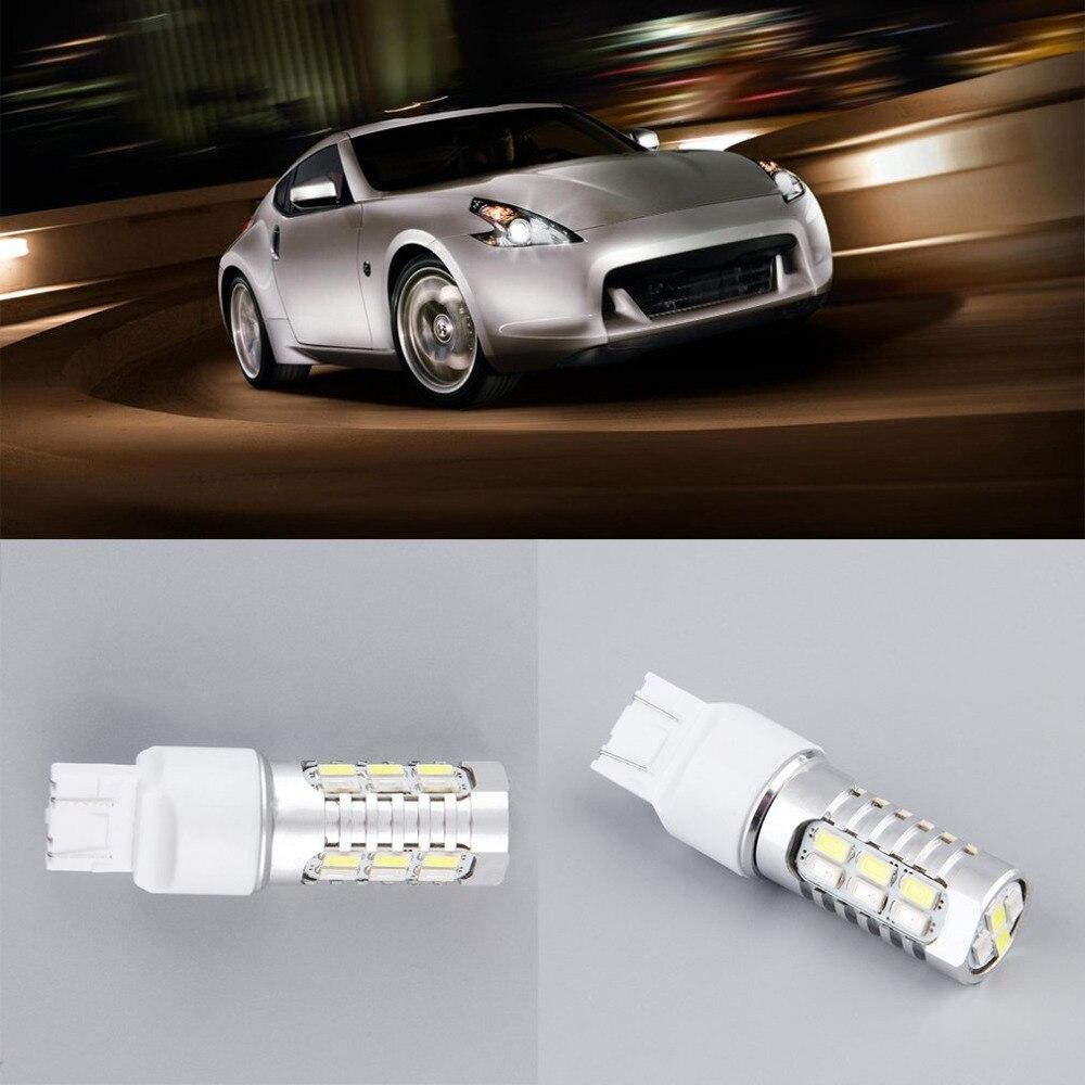 Высокое качество Т20 7443 22SMD двойной Цвет сигнала поворота switchback светодиодные лампы Белый/Янтарный .Сигнал поворота светодиодный свет