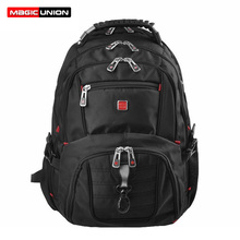 Magic union hombre mochilas hombres de equipaje y bolsas de viaje de oxford hombres mochila portátil impermeable mochila masculina 15 pulgadas