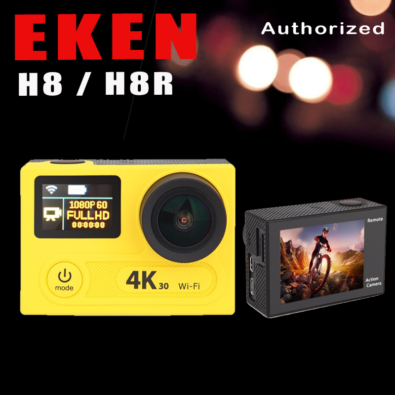 "Action camera H8R EKEN H8 VR360 ultra 4K / 30fps WiFi 2.0""Dual LCD Remote Controller pro Helmet Cam go waterproof sport camera"