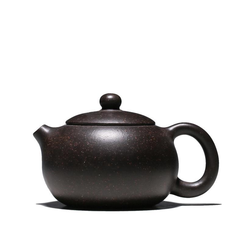 Chinese yixing tea pot marked handmade carved blessing pot real zisha green clay