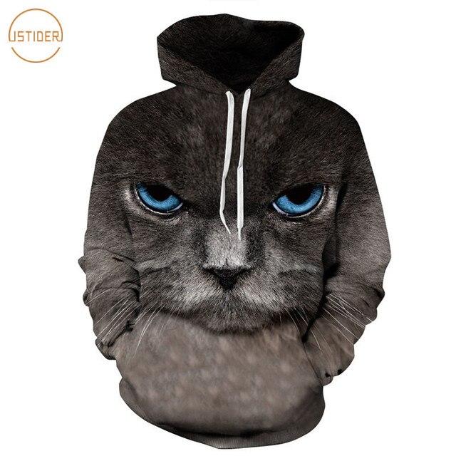 ISTider hombre Sudadera con capucha gris oscuro de las mujeres 3D Impresión  Digital otoño primavera Sudadera 9db47b6d5af