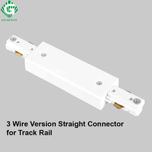 LED Track Rail Connector Straight Connectors 3 Wire Rail Connector Rail Joiner Track Lighting For Spot Light Track Fitting go ocean track rail connector track linker 3 wire i l t cross shape connectors led spotlight connector rail connectors