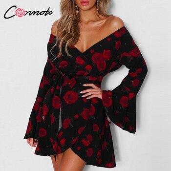65b65763bb096 Conmoto Rosa femenino de manga larga Mini Vestidos fiesta vestido de  invierno 2019 nuevo Vestidos