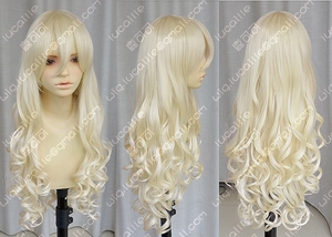 New Vocaloid / Seeu Blonde Cosplay Long Curly Wig(China)