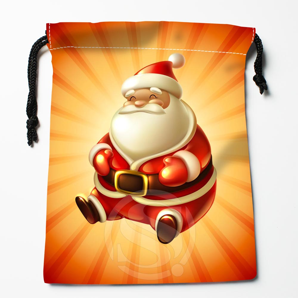 TF&193 New Santa Claus Christmas &3 Custom Printed Receive Bag Bag Compression Type Drawstring Bags Size 18X22cm #812#193YM