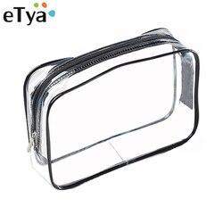 ETya Umweltschutz PVC Transparent Kosmetik Tasche Frauen Reisen Wasserdichte Waschen Toiletry Taschen Make-Up Veranstalter Fall