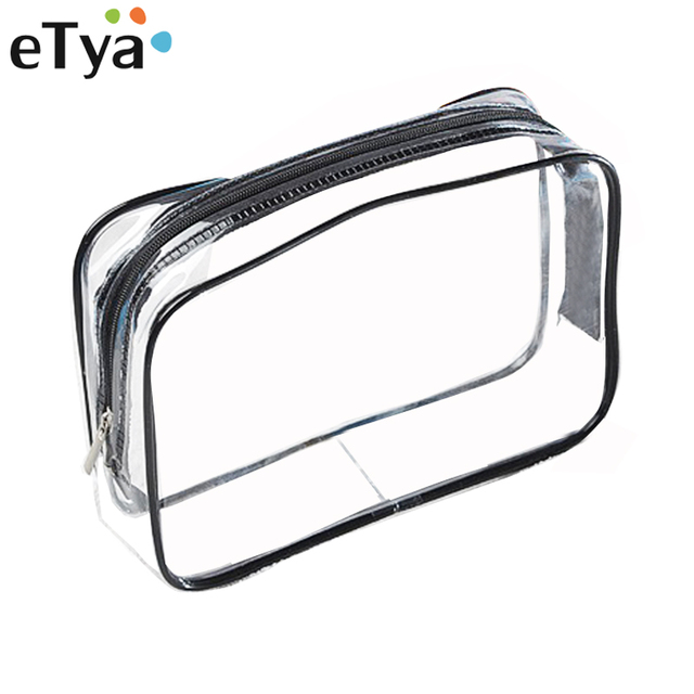 de73a5ff69f5 US $1.4 26% OFF|eTya Environmental Protection PVC Transparent Cosmetic Bag  Women Travel Waterproof Wash Toiletry Bags Makeup Organizer Case-in ...