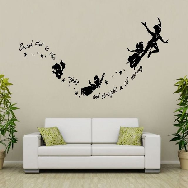 G197 Tinkerbell Peter Pan Children Nursery Wall Stickers Quotes Wall ...