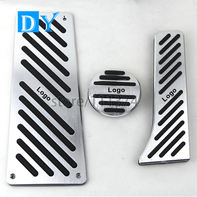 Nulla No Drill styling Aluminum Foot Rest Pedals Gas Fuel Brake Pedal Automatic For For Benz Smart Fortwo Elf 2009-2014