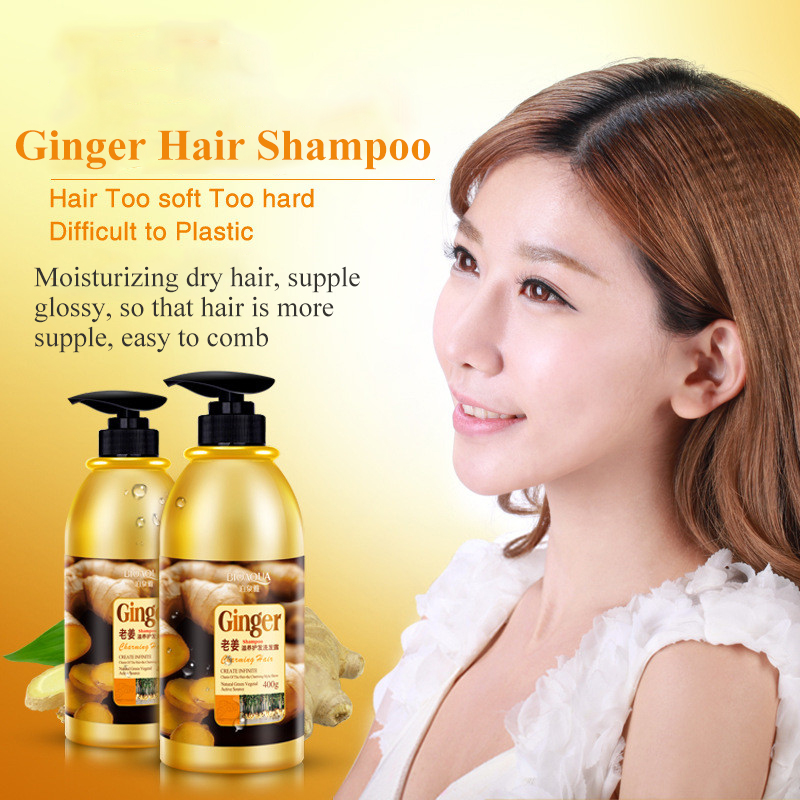 Herbal Ginger Hair Shampoo No Silicone Oil Oil Control Anti Dandruff Itching Cleansing Professional Hair & Scalp Treatment 400ml 3