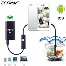 WIFI Endoscope Camera Android Endoscope Camera Mini Flexible Snake Soft Cable Inspection IP Camera 8mm USB Rechargable IOS Phone