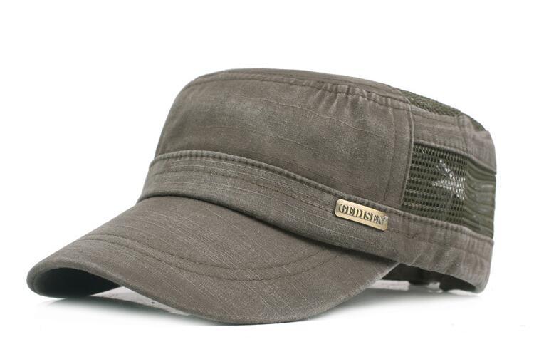 New Mens Cadet Military Hat//Cap Trucker Hat Visor Unisex Black Brown