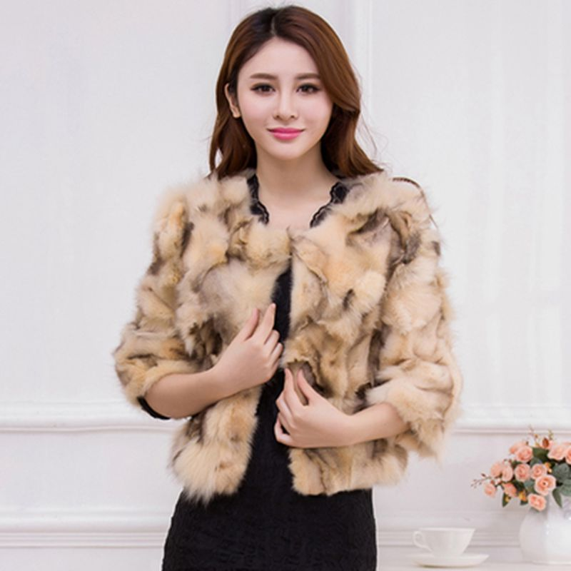 7feeee48389 Brieuces women Vintage fluffy faux fur coat women Short furry fake fur  winter outerwear pink coat