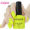 Beauty Gel # 13  Dannail Bright Yellow 10ml Long Lasting Soak Off UV Gel Nail Polish Nail Art UV Manicure Cosmetic Blink Gel