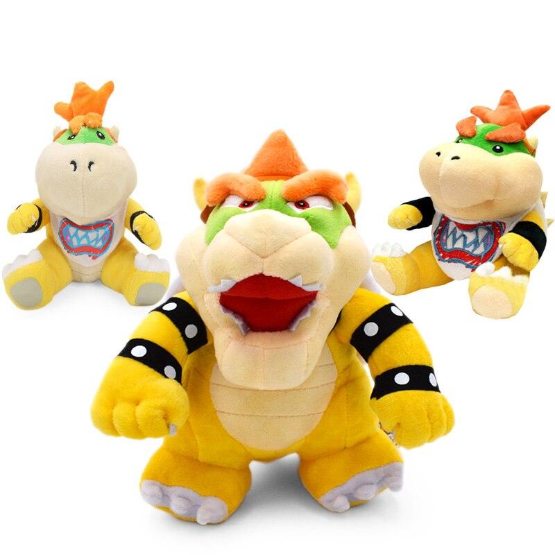 Super Mario Bros, Mario juguetes de peluche 18-24 cm Bowser JR Koopa Bowser dragón de peluche de juguete muñeca hermanos suave de peluche de felpa