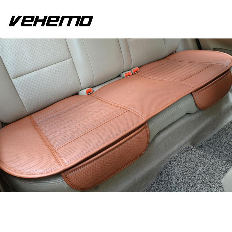 Vehemo Auto Car Vehicle Interior PU Leather Seat Cushion Pad Universal Full Set