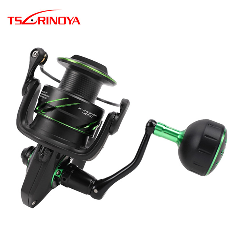 TSURINOYA FLYING SHARK4000 5000 6.2:1 Gear 11+1BB 12Kg Max Drag Full Metal Body Spinning Reel For SaltwaterTSURINOYA FLYING SHARK4000 5000 6.2:1 Gear 11+1BB 12Kg Max Drag Full Metal Body Spinning Reel For Saltwater