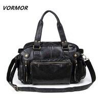 New Fashion Men S Travel Bags Vintage PU Leather Shoulder Bag Men Messenger Bags
