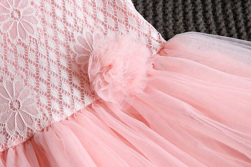 b4192fa7c Kid Summer Dress Girl Lace Flower Cute Little Princess Dresses ...