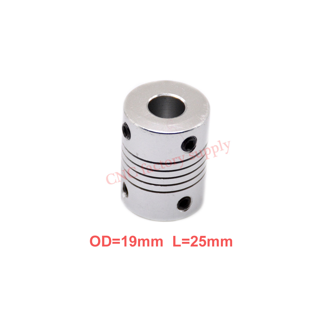 купить Hot 10pcs/lot D19L25 5x8mm CNC Motor Jaw Shaft Coupler Flexible Coupling OD19x25mm wholesale Dropshipping 3/4/5/6/6.35/7/8/10mm по цене 591.58 рублей
