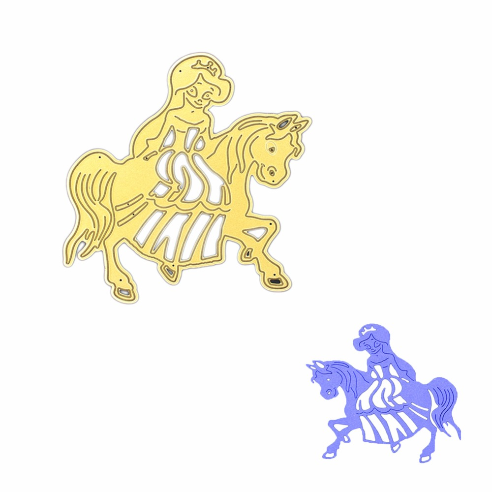Gowing Greeting card princess ride Metal cutting dies stencils for ...