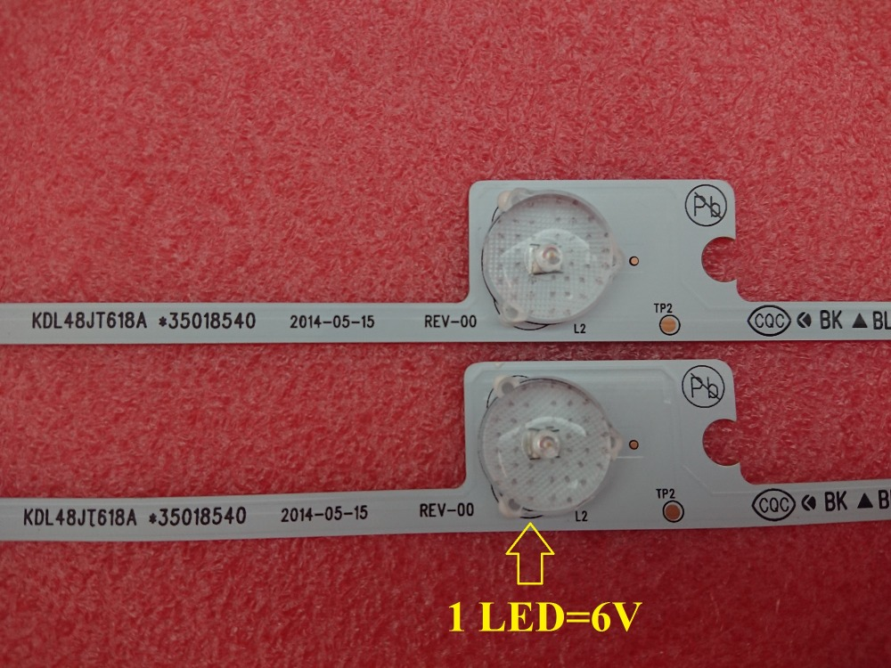 Image 3 - 100 PCS*6 LEDS*6V 442mm NewTV backlight LED strip bar for KDL48JT618U KDL48JT618A 35018539 35018540-in Replacement Parts & Accessories from Consumer Electronics