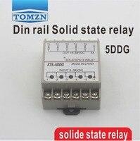 5DDG 5-канальный din-рейка SSR пять входов 3 ~ 32VDC выход 5 ~ 36VDC Однофазный DC твердотельное реле