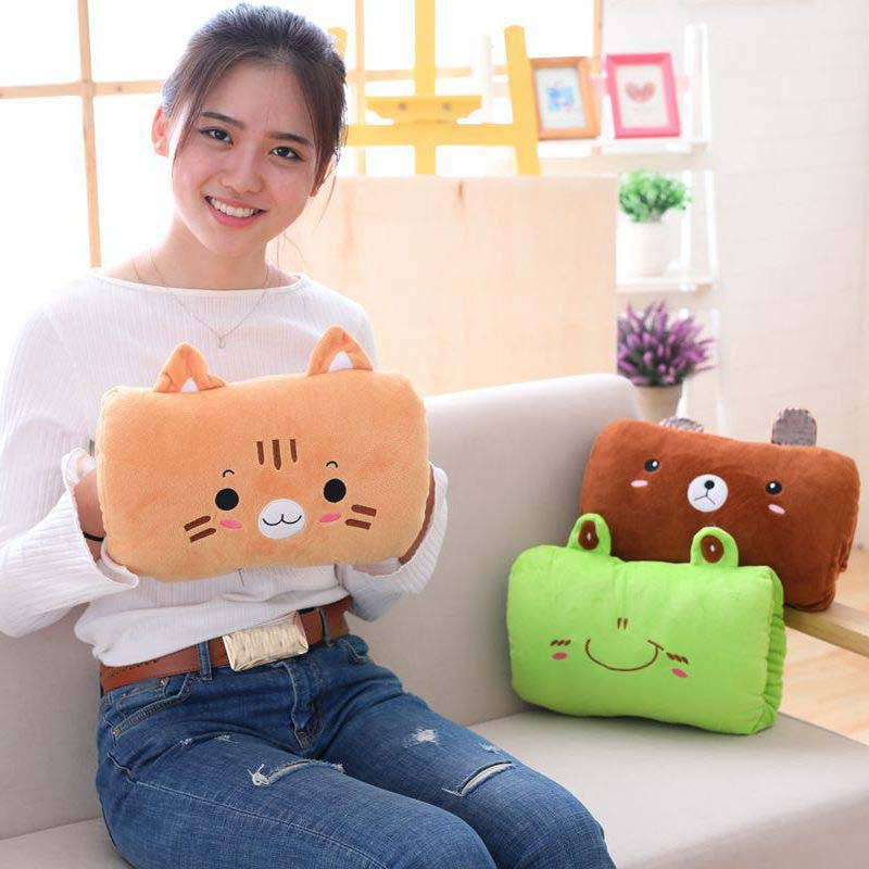 Cartoon Hand Warmer Heater Plush Pillow Washable Hand Cushion Finger Hands