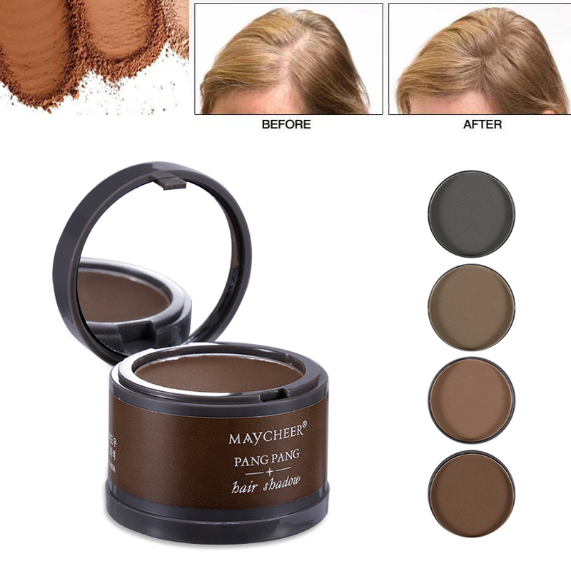 Magical Fluffy Thin Hair Powder Pang Pang Hair Line Shadow Makeup Hair Concealer Root Cover Up Instant Gray Coverage 4g image