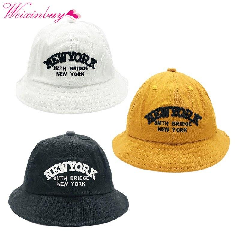 Для мальчиков и девочек шапка шапки письмо летняя шляпа от солнца Пляж из шляпа солнца ребенок шляпа письмо хлопок 2018 девочка Caps