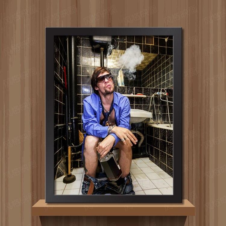 Modern Sıcak Seksi bayan Serin adam Tuvalet tuval sanat duvar boyama - Ev Dekoru - Fotoğraf 4