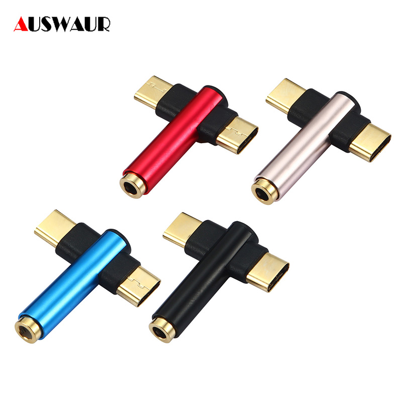 Type C Male To 3.5mm Audio Jack Headphones Adapter Charging/Music/Call For Huawei Mate10 Pro Xiaomi Mi6 USB Type C Mobile Phones