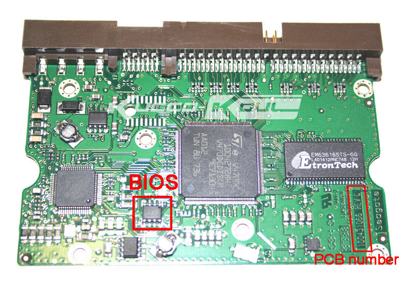 hard drive parts PCB logic board printed circuit board 100431066 for Seagate 3.5 IDE/PATA hdd data recovery hard drive repair