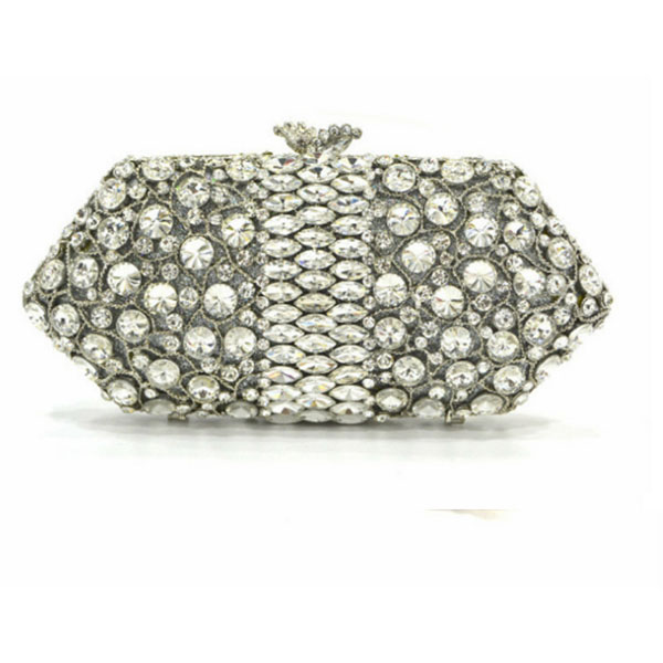 silver Clutch evening bags Luxury diamond clutch bags women pochette Bling handbag Handcraft wedding banquet purse bag lady box bling bags party purse bags women luxury crystal evening bags female pochette diamond ladies wedding clutch bags smyzh e0030