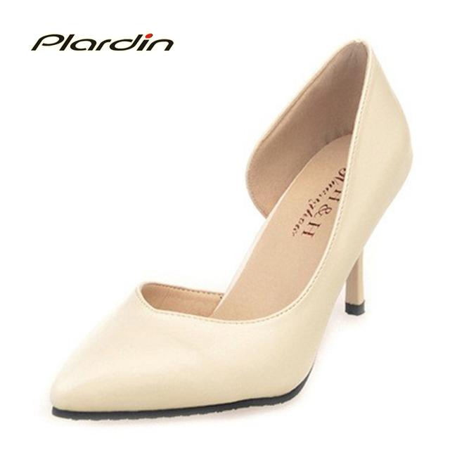 Plardin 2017 Bombas de Las Mujeres Zapatos de Primavera Nueva Fina de Europa Y América Señaló zapatos de tacón alto Zapatos De OL de Las Mujeres estilo de Los Zapatos de Las Mujeres