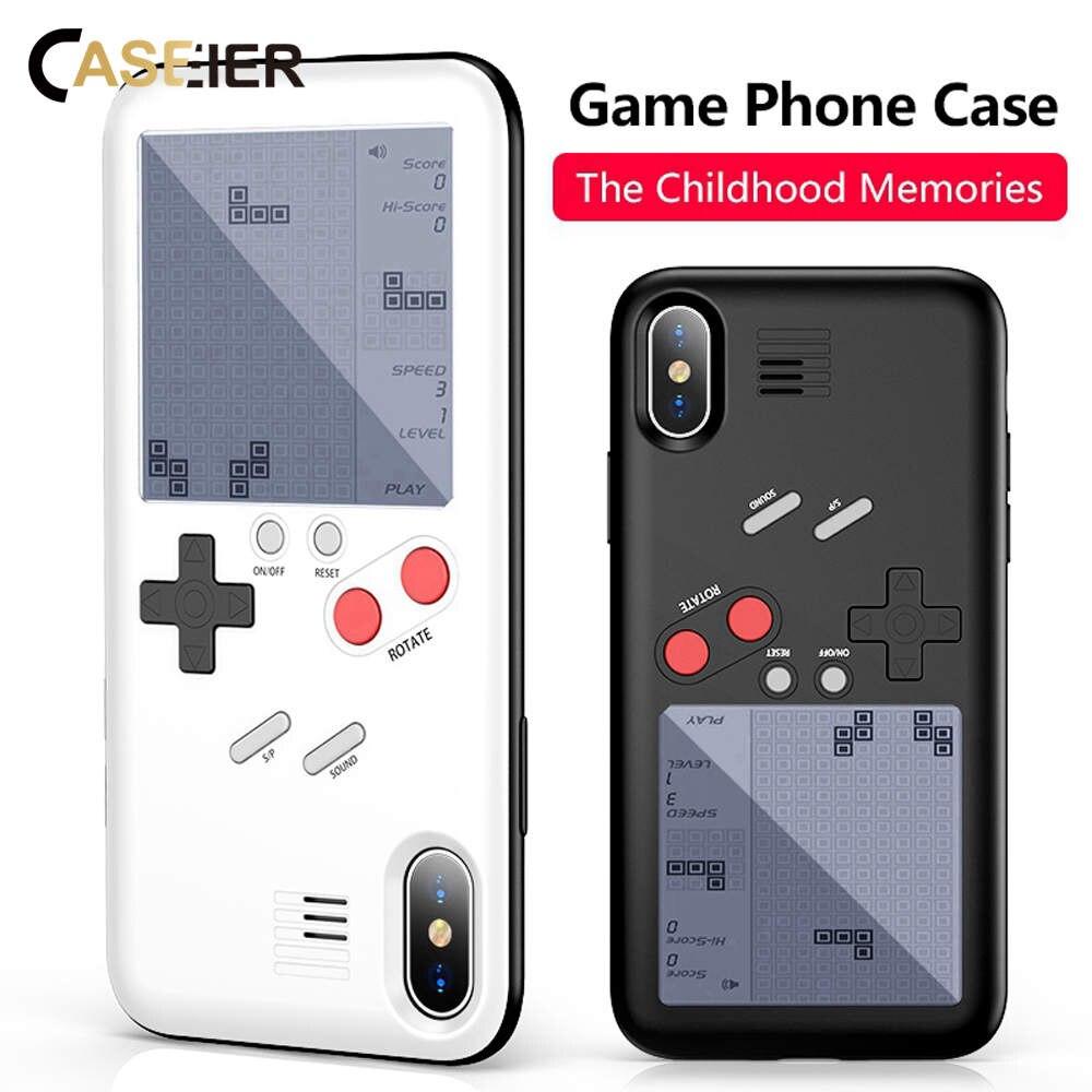 CASEIER Game Machine Full Cover Phone Case For iPhone X 6 6S 7 Plus 8 Retro taste Capinha