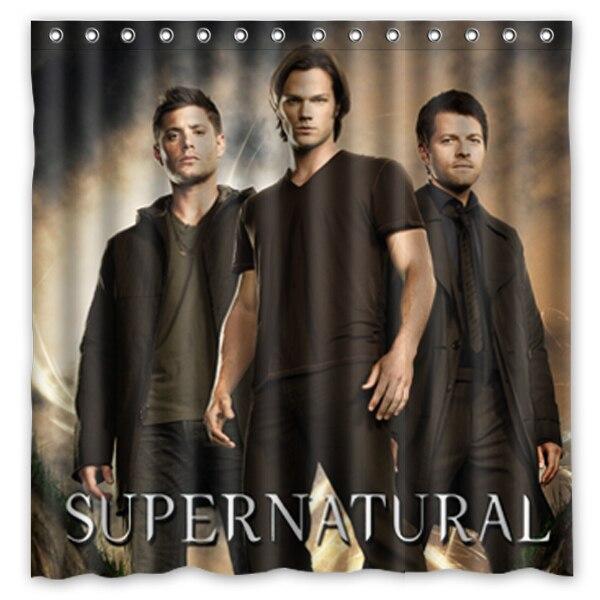 Perfekt Supernatural Gehandelt Durch Jared Padalecki Und Jensen Ackles Hintergrund  Wasserdichte Polyester Dusche U0026 Bad Vorhang (180X180 .